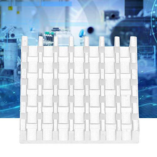 Jectse koellichaam aluminium koellichaam, geschikt voor routers, CPU, bridge-chips, IC-koeler, printplaat, versterkerplaat, versterker, 25 x 25 x 5 mm