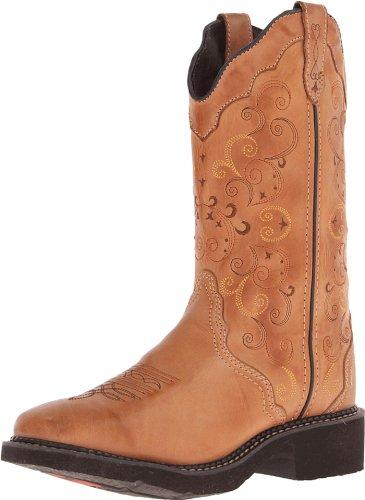 Justin Boots Damen Cowboy Stiefel L2907 Westernreitstiefel Lederstiefel Braun 40 EU