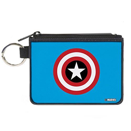 Buckle-Down Junior's Canvas Coin Purse Captain America, 4.25\ x 3.25\