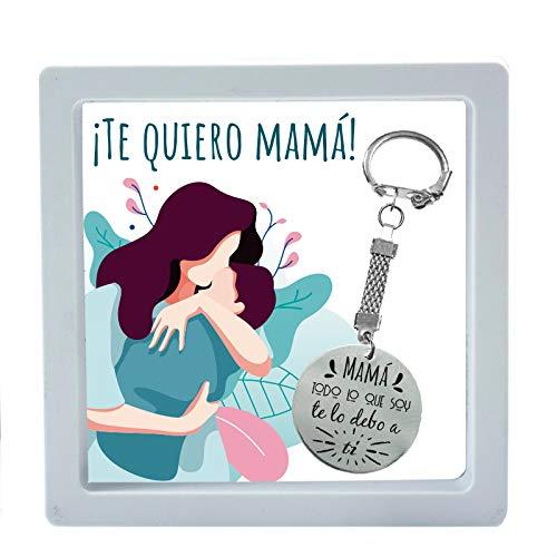 Llavero día de la madre con mensaje grabado'Mamá, todo lo que soy te lo debo a ti' - Regalos originales día de la madre