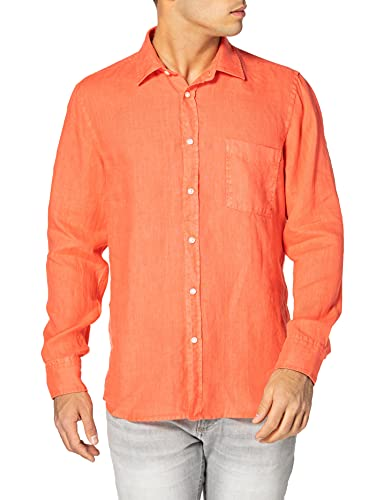 BOSS Relegant_2 Camisa, Open Red646, X-Large para Hombre