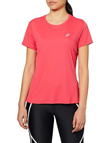 ASICS Unisex Silver Ss Top T-Shirt, Pixel Pink, M