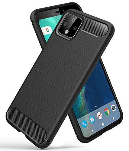 YEESOON Capa para Google Pixel 4, capa de proteção de TPU ultra fina, macia, leve, design de fibra de carbono, capa traseira para Google Pixel 4 (preto)