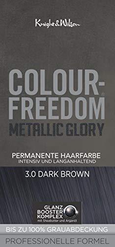 Colour Freedom Metallic Glory | Dark Brown 3.0 | permanente Haarfarbe | 1er Pack (1x 75ml + 50ml + 15ml)