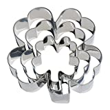 3 Piece Clover Cookie Cutter Set - 4 1/2', 3 3/8', 2 1/5' - St. Patrick's Day Large Four Leaf Clover Cookie Cutters