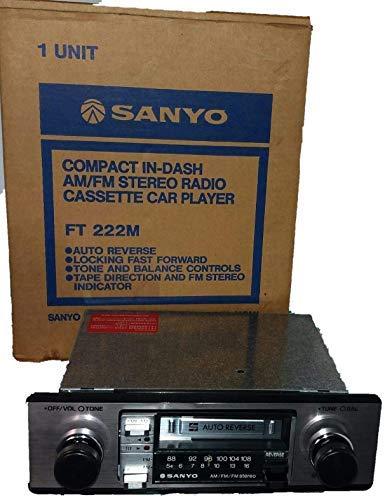 auto radio-cassete autoreverse SANYO ft 222 m radiocassette para coche clasico vintage antiguo nuevo a estrenar