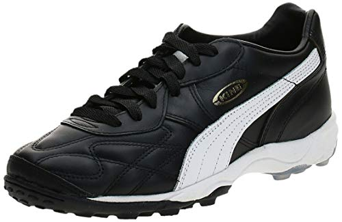 PUMA Men's King Allround TT Soccer Cleat,Black/White/Gold,6...