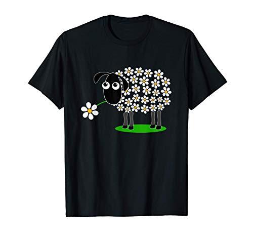 Süßes Schaf mit Blume Wolle T-Shirt für Mädchen und Mama T-Shirt