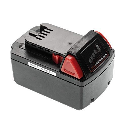 INTENSILO Batería recargable compatible con Milwaukee 2601-21, 2606-22CT, 2607-20, 2607-22, 2607-22CT herramientas eléctricas (5000 mAh, Li-Ion, 18 V)