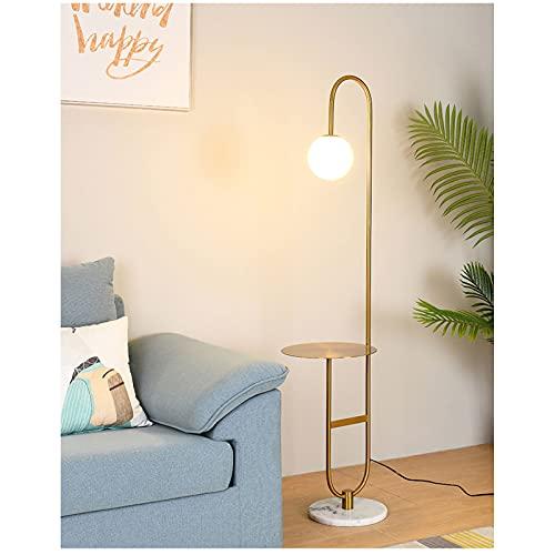 KOKOF Lámpara de pie Estilo Dormitorio mesita de Noche lámpara una Minimalista luz Lujo Sala de Estar de Pesca Mesa de café Vertical lámpara de Mesa gold1