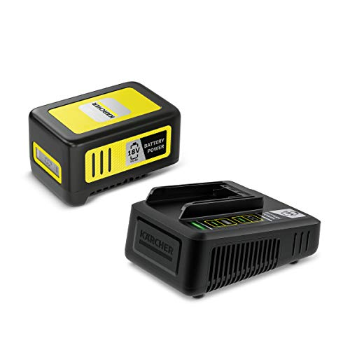 Kärcher Starter Kit Battery Power 18/50 (18 V / 5,0 Ah Battery Power-Wechselakku, 18 V Schnellladegerät, für alle Geräte der Kärcher 18 V Battery Power Plattform)