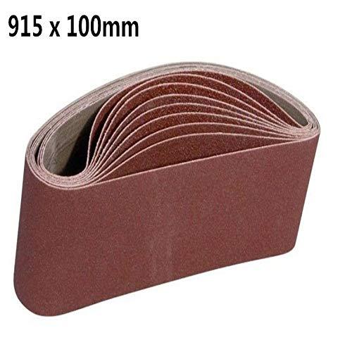 GGOII Schleifband 10 Stück 100 * 915 mm Schleifband-Schleifsiebband Schleifpolierpapier 40 bis 600 Girt Schleifband Kostenloser Versand60Grit