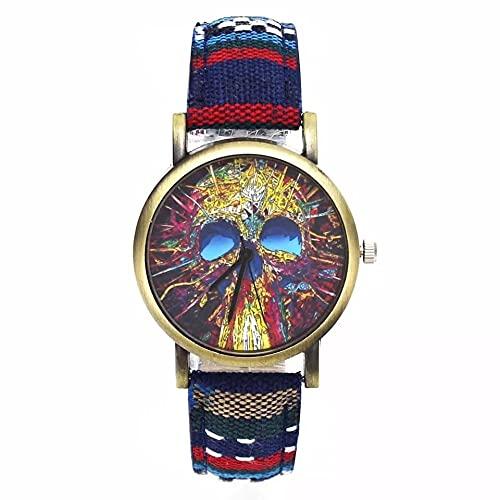 Relógio Feminino Caveira Colours Quartz 36mm Diâmetro