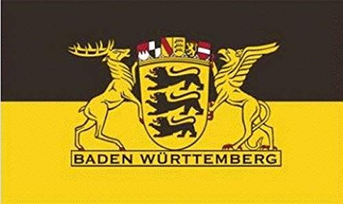 Flagge Fahne Baden Württemberg Großes Landessiegel 90x150cm