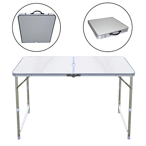 MultiWare Aluminum Rectangle Camping Folding Table Protable Adjustable Garden Outdoor Picnic Table