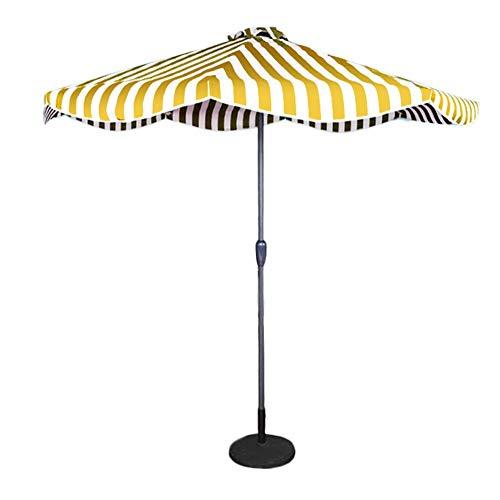 HH- Sonnenschirme Ø 2,7 M Außenterrassenschirm mit Fransen, Aluminium-Handkurbel mit Manueller Kurbel, Premium-Tischschirm für Kleine Außenbereiche