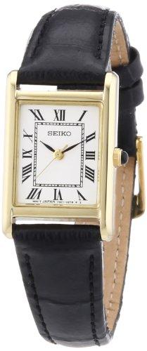 Seiko Quarz Damen-Uhr Edelstahl mit Lederband SXGN56P1
