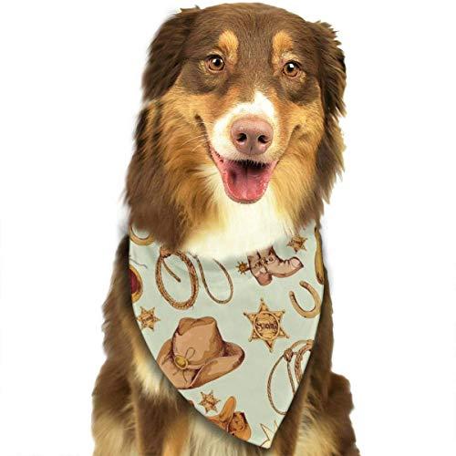 FunnyStar hond Bandana Wild West Cowboy gekleurde sjaals accessoires decoratie voor huisdier katten en puppies
