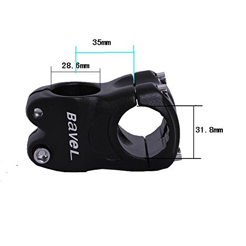 Bavel Aluminum Alloy Fixed 31.8mm Cycling Mountain Bike Short Handlebar Stem Riser