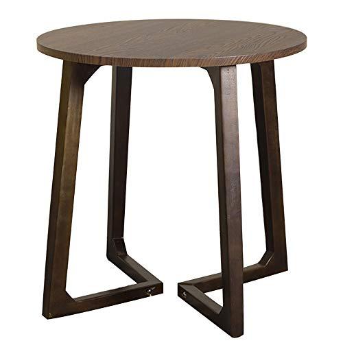Petite Table Basse/Salon Simple côté canapé, en Bois Massif Moderne Petit Appartement Simple et économique, Rond, Marron, 59,5 × 59,5 × 60cm