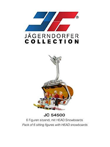 Jaegerndorfer jaegerndorferjc54500Sitzende Figuren mit Head Snowboards (6-teilig)