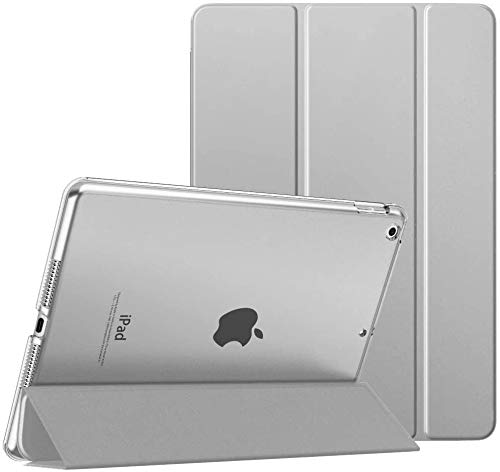 BLITY Case for iPad Pro 12.9 2020, PU Leather Trifold Stand Slim Fit Smart Cover [Support Apple Pencil 2 Charging] with Hard Back Case for Apple iPad Pro 12.9 (4th Generation 2020)(Grey)