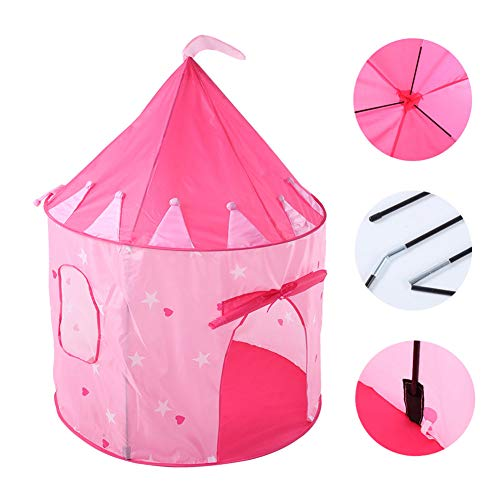 MXYPF Princess Castle Play Tent, Starry Sky Yurt Indoor Playhouse With Carry Case, Kids Foldable Outdoor Tents for Girls Boys Child