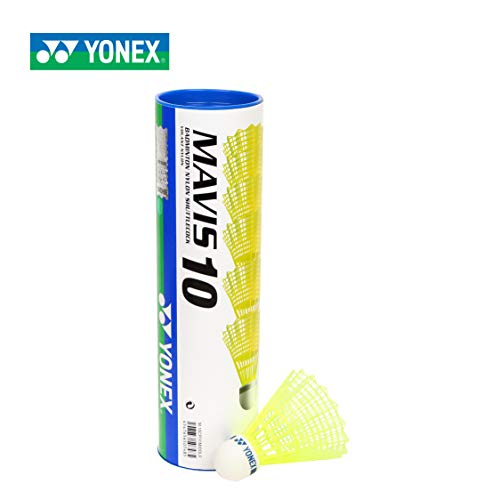 Yonex Mavis 10 Badminton Shuttlecocks - 1 dozen, Colors- Yellow