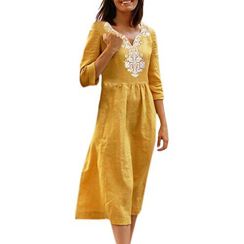 MOMOXI Vestido de Mujer con Hombros Descubiertos Borla Corto Cóctel Vestidos de Playa Vestido de Tirantes Mujer Casual Vestido De Verano Largo Maxi Falda Estampado De Manga Larga Fiesta Boho Playa