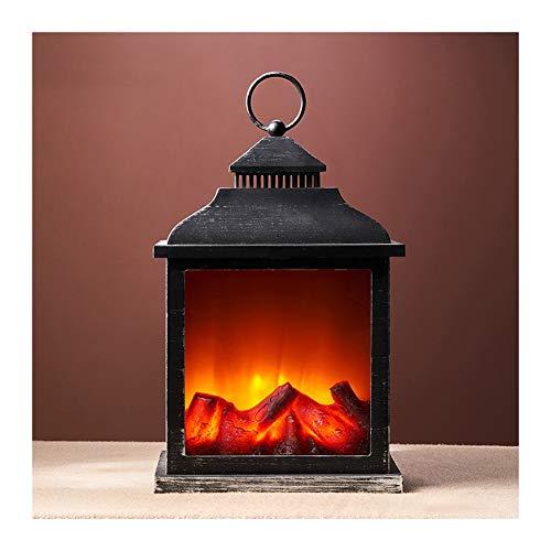 ZWH-Lámpara de Llama Chimenea De La Lámpara Led Llama Entrar Efecto Chimenea Cepillado Estilo Adornos Cosy Home Decor luz del Humor (Color : C)