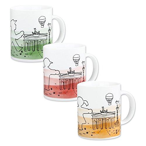 Ampelmann© Kaffeebecher Frühauftsteher weiß Silhouette Geher Steher Ampelfrau, Henkelbecher Kaffeetasse Kaffeepott