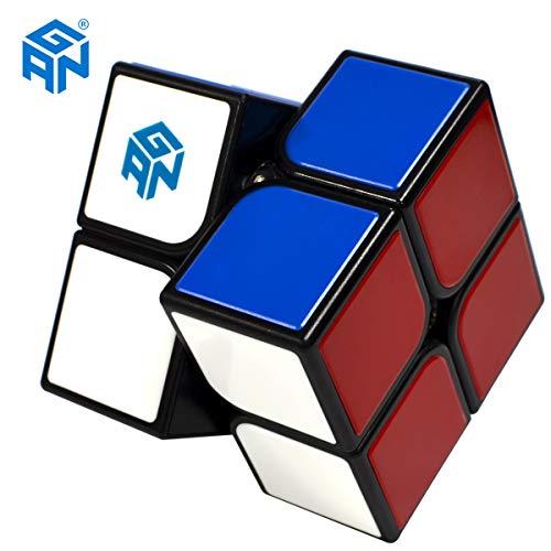 Maomaoyu GAN 2x2 Zauberwürfel Speed Cube, Tiled Scratch Proof 3x3x3 Smooth Magic Puzzle Cube Toy Black (GSC)
