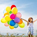 110 Pack Party Balloons Pearlescent Thickened Latex Balloon 12 inch Rainbow Ornament for Nursery décor, Arch, Garland, Christmas, Birthday