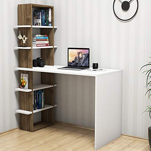 Bravo Home Madelon Studying Desk (Walnut and White)