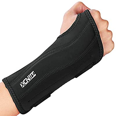 Night Wrist Sleep Support Brace, Adjustable Wrist Support Brace with Splints, Pain Relief for Men&Women, Fitted Wrist Brace for Carpal Tunnel, Tendonitis,Right