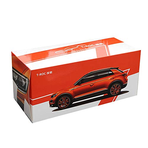 doudouTU Druckguss Auto Dekoration 1:18T-ROC SUV Auto Weltberühmte Legierung Modellauto Statische Metall Modellfahrzeuge Mit Original Box Geschenke Für Erwachsene Auto Fans
