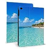 Estuche Protector Ultra Delgado de Cuero Inteligente para iPad, Riviera Maya Paradise Beaches Cancún Quintana para iPad Mini 4/5 7.9 Pulgadas con función automática de Reposo/activación
