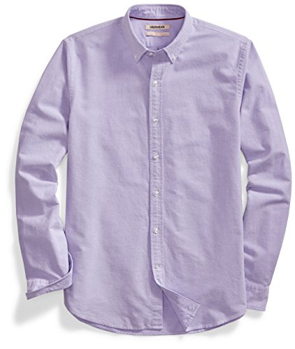 Amazon Brand - Goodthreads Men's 'The Perfect Oxford Shirt' Standard-Fit Long-Sleeve Solid , Purple, Large