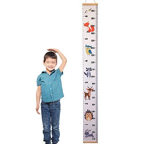 Huture Kinder Höhe Lineal Höhe Wachstum Diagramm Segeltuch Hängend Lineal Wachstum Wand Diagramm Kinder Höhenmesser Messlatte für Kindergarten Dekor Kinderzimmer Ornamente (200cm x 20cm)