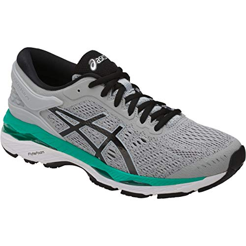ASICS Women's Gel-Kayano 24 Running Shoe, Mid Grey/Black/Atlantis, 5.5 Medium US