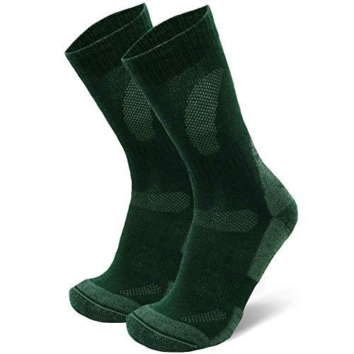 DANISH ENDURANCE Merino Wool Hiking & Trekking Socks (Forest Green 1 Pair, US Women 11-13/US Men 9.5-12.5)