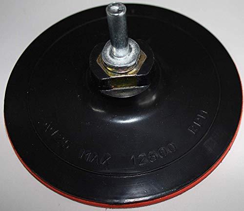 HKB 1 Stück Schleifteller, Klett-Stützteller 125 x 7 mm, mit Spanndorn M14, für Bohr- oder Schleifmaschinen, Artikel-Nr. 70030 …