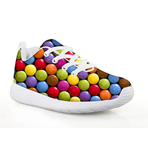 Shinelly Modieuze wandelschoenen voor kinderen, gym, vrijetijdsschoenen, sneakers, ademende turnschoenen, wandelschoenen, ultralicht, mesh, wandelschoenen, outdoorschoenen, sweety candy