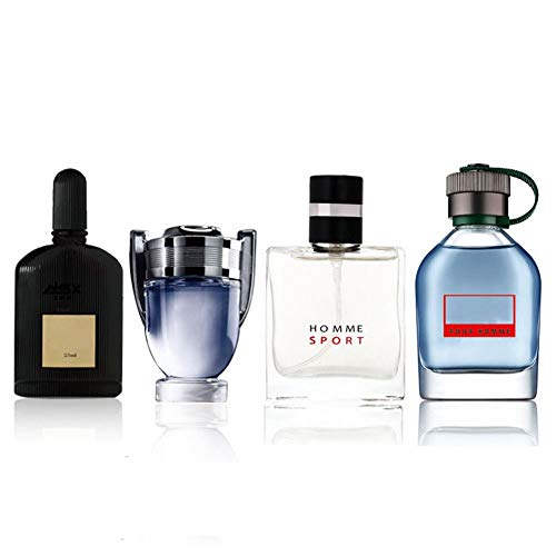 Perfume para hombre Colonia, 4 x 25 ml Caja de regalo Perfume duradero para caballero Perfume líquido, Perfume portátil de larga duración, para regalo de Navidad de Acción de Gracias