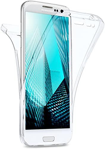 moex Double Case für Samsung Galaxy S3 / S3 Neo Hülle Silikon Transparent, 360 Grad Full Body Rundum-Schutz, Komplett Schutzhülle beidseitig, Handyhülle vorne und hinten - Klar