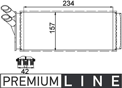 MAHLE AH 93 000P Innenraum-Wärmetauscher BEHR PREMIUM LINE