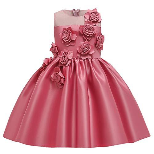 LuckyGirls Princesse Robe Fille Élégante Robe d'anniversaire De Mariage Filles Enfants Robes De Baptême Casual Party Robes sans Manches