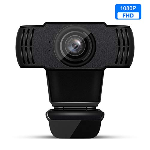 JOYSEE Webcam mit Mikrofon, Webcam HD 1080p USB 2.0 Plug & Play, mit stabilem Drehständer, für Laptop, Computer, PC, Desktop, für Live-Streaming, Videoanruf, Konferenz, Online-Unterricht, Spiel.