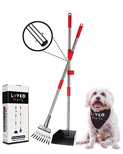 Pooper Scooper for Small Dog – Stainless Steel, Non-Stick Metal Pooper Scooper - Pooper Scooper...