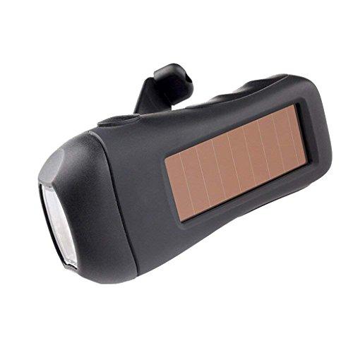 M-zmsdt La Lampe-Torche de LED Rechargeable Solaire Peut être manivelle à la Main de Génération de Puissance campant Le projecteur à Usages Multiples de Voyage extérieur